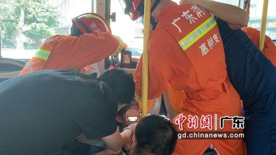 图为救援现场 惠州市消防支队供图