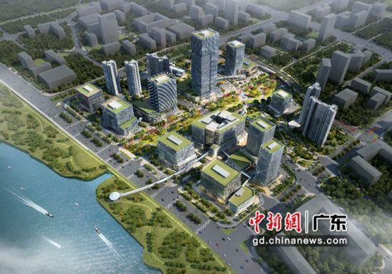 以海绵城市的建筑标准建造碧桂园思科(广州)智慧城效果图。图片来源:受访单位供图