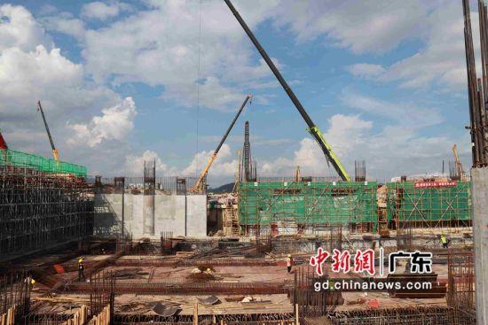 赣深高铁惠州北站建设全速推进。朱慧婷供图