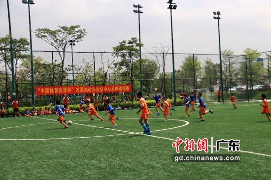 青少年激情参与足球赛 主办方供图