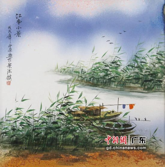 温宁荣作品《江南小景》。黄伟哲 摄