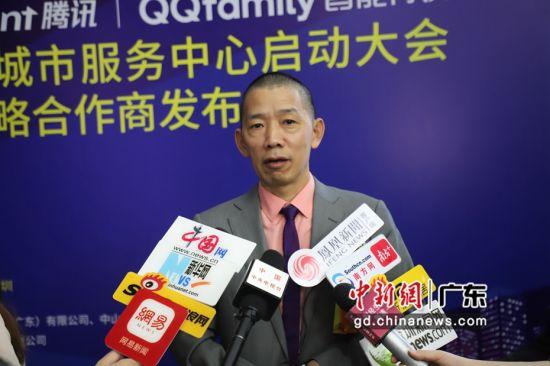 杨格智能产业科技(广东)有限公司董事长杨官贵接受采访。主办方 供图