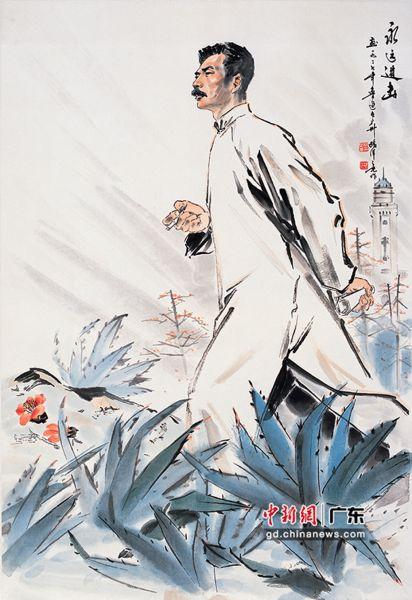 杨之光画作《永远进击》。广州艺博院供图