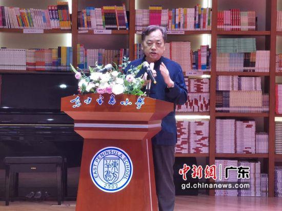 广东省美术馆协会主席罗一平发言。(摄影:郑小红)