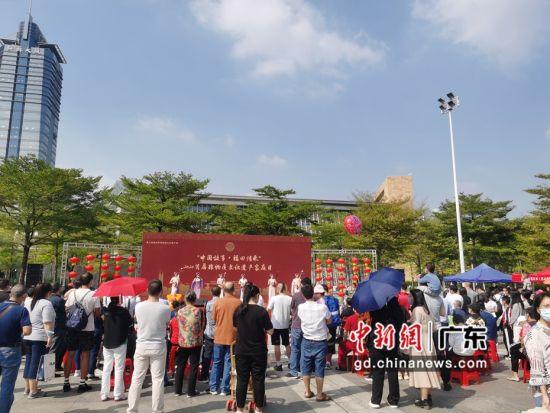 深圳举办非物质文化遗产家庭日系列活动。(摄影:郑小红)