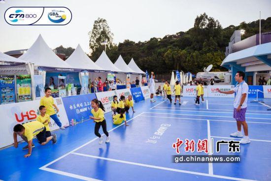 """赛事组委会重点打造以""""悦网球、粤精彩""""主题的网球嘉年华活动。 张旭华 摄"""