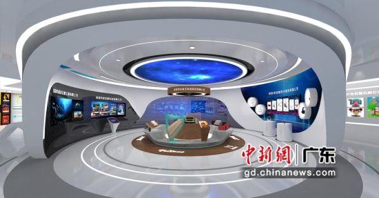 深圳龙岗展区的文博会线上展厅(龙岗区 供图)