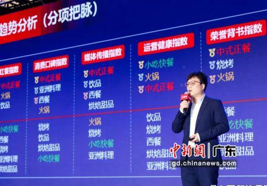 红餐网联合创始人、红餐品牌研究院执行院长樊宁解读《2020中国餐饮品牌力白皮书》。陈洪波 摄