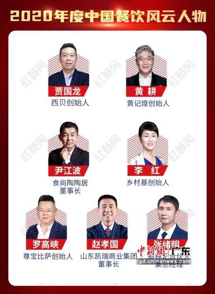 2020年度中国餐饮风云人物。程景伟 摄