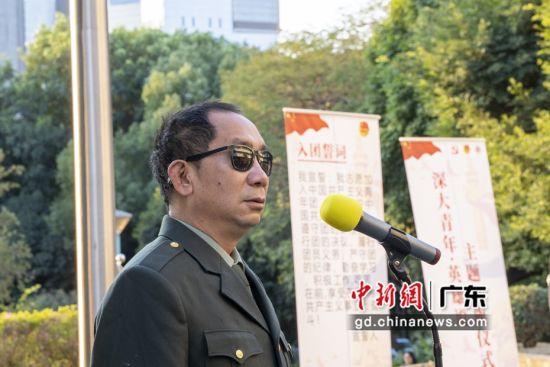 """被誉为中国的""""保尔・柯察金""""的深圳大学1990届杰出毕业生、一级战斗英雄、军旅作家史光柱(深大供图)"""