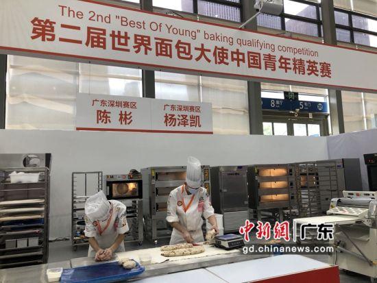 图为大赛现场,烘焙师们正在进行比赛。 作者 朱族英