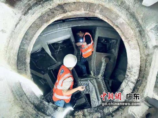 深圳地鐵13號線內湖停車場出入線雙線貫通。中建五局華南公司供圖