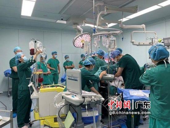 醫院進行手術。通訊員供圖