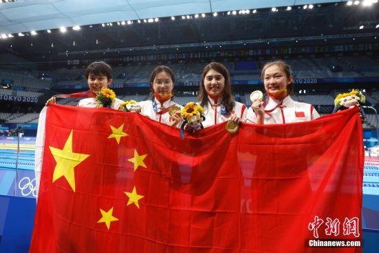 17岁广东小将汤慕涵首战奥运夺金