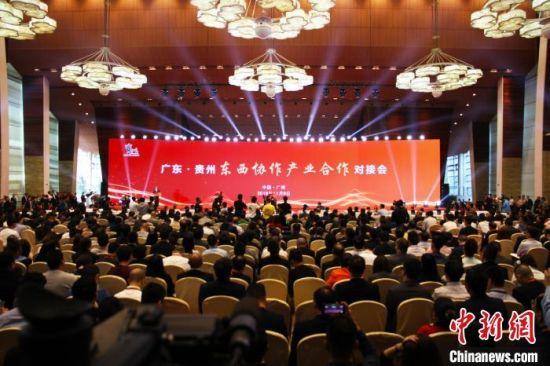 2019年广东贵州东西部协作对接会。 贵州省投资促进局供图
