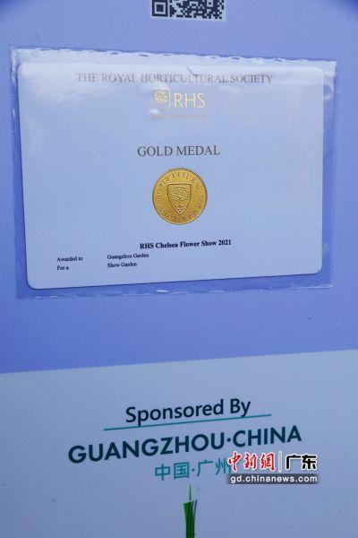 """""""广州花园""""荣获2021切尔西花展金奖。广州市林业和园林局供图"""