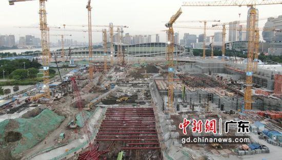 广交会展馆四期项目建设鏖战正酣。通讯员 供图
