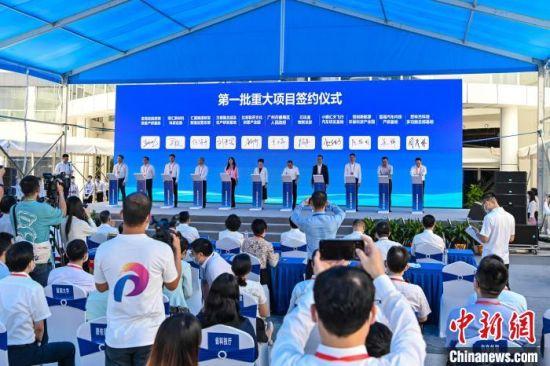 广州番禺一批重大产业项目集中签约 陈骥�F 摄
