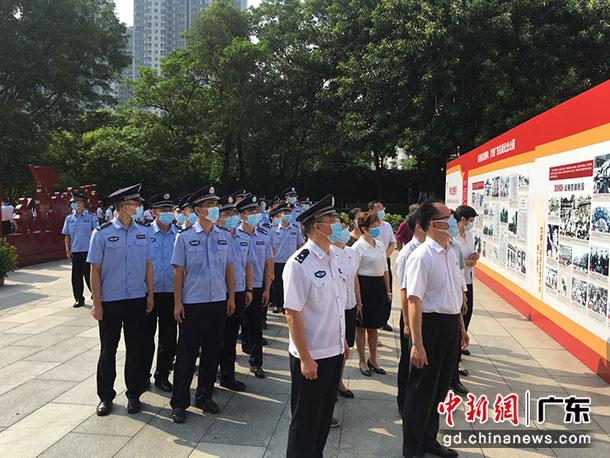 广州边检民警参加活动