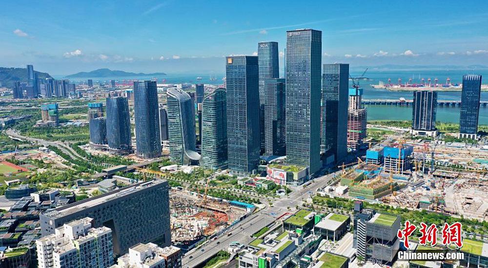 俯瞰深圳前海深港现代服务业合作区建设风貌