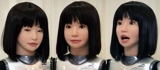 日本推出会走猫步的黑发美女机器人