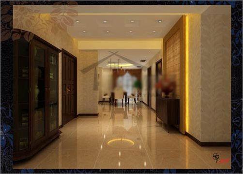 背景墙用的是和电视背景墙颜色相呼应的壁纸,用木条做了简单高清图片