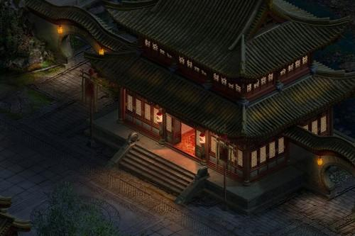 古风古韵的中国风一直是大话2玩家最钟爱的风格,水畔渡口,一盏风灯