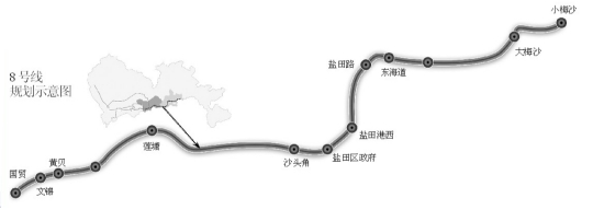 奥一网友建议,8号线应该延长溪涌,玫瑰海岸,土洋,葵涌四站.