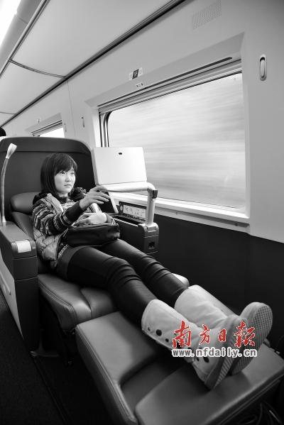 京广高铁商务座可躺堪比飞机头等舱 票价2727元高清图片