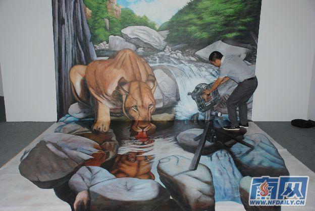 80余幅3d立体油画集中深圳巡展